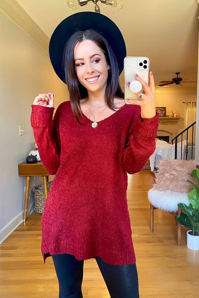 Rockvale V-Neck High Low Sweater - FINAL SALE - Madison and Mallory