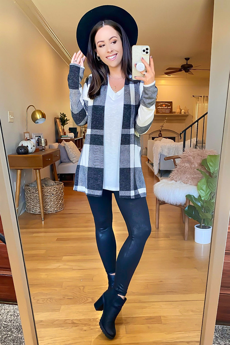 Chill in the Air Tartan Plaid Cardigan - FINAL SALE - Madison and Mallory