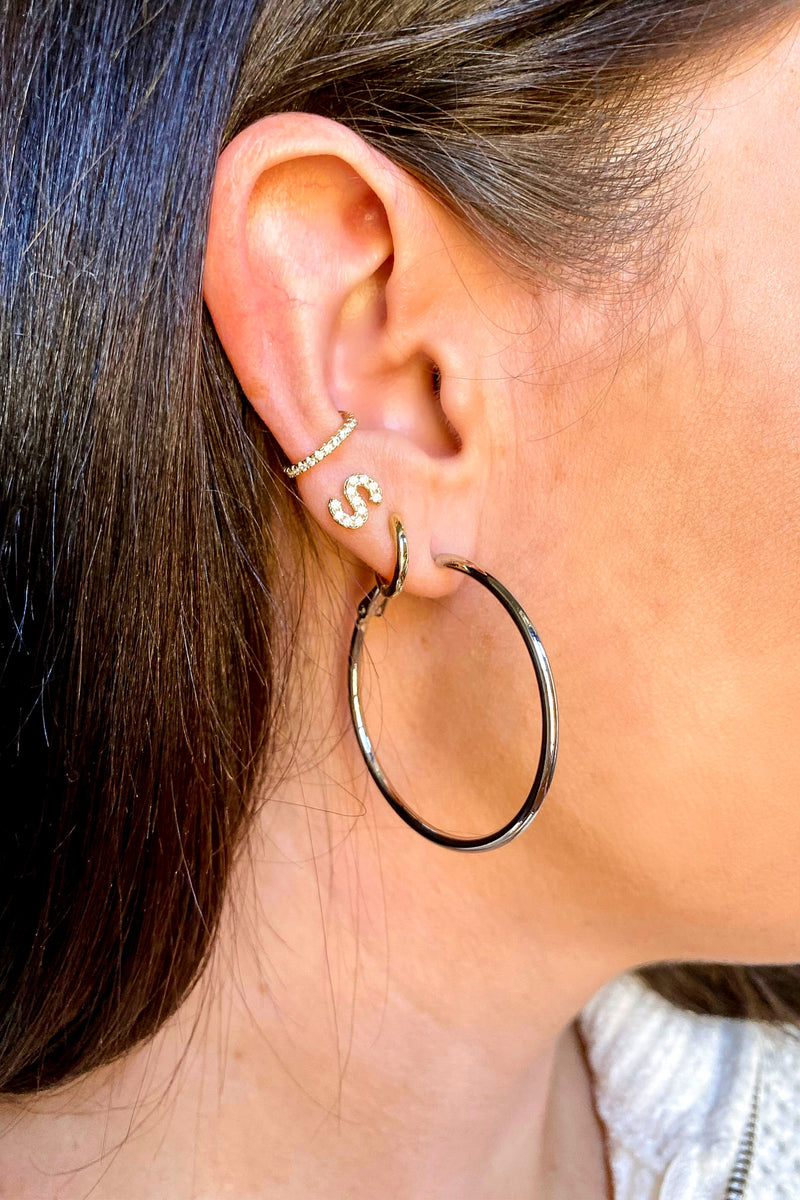 Silver Viviyana Hoop Earrings - Madison and Mallory