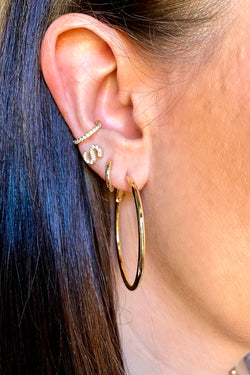 Gold Viviyana Hoop Earrings - Madison and Mallory