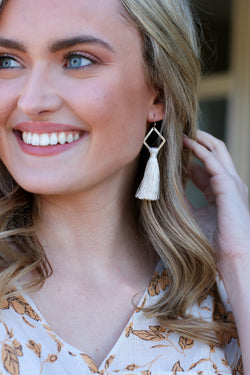 Lost Horizon Geometric Tassel Drop Earrings - Madison and Mallory