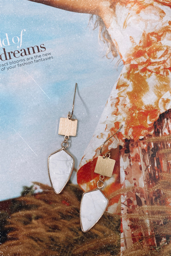 Ravenel Stone Drop Earrings - Madison and Mallory