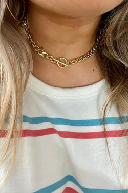 Gold Link Up Later Chain Necklace - Madison and Mallory