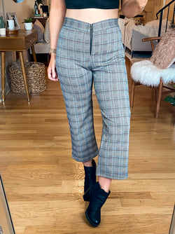 S / Plaid Check You Later Plaid Zipper Pants - Madison and Mallory