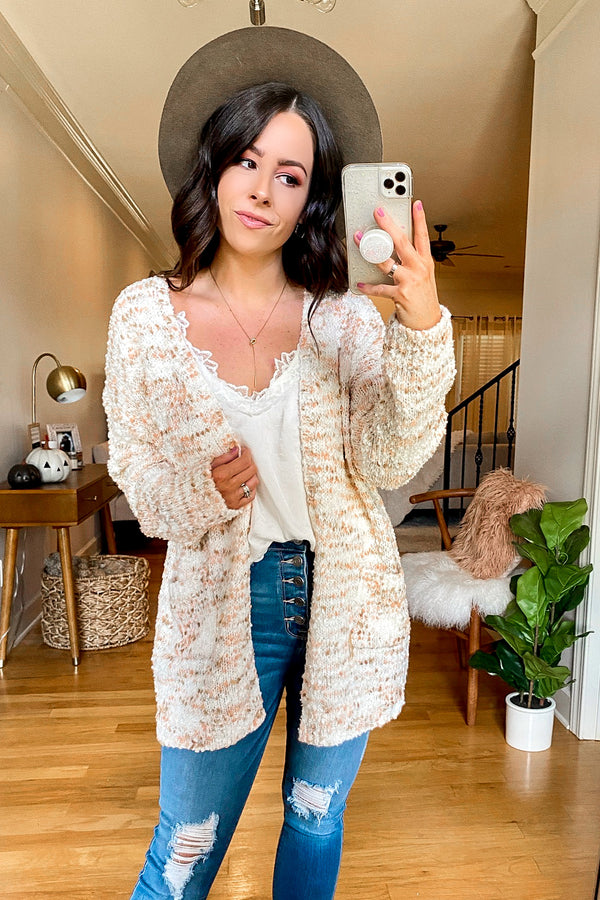 SM / Off White Like Minded Confetti Knit Cardigan - Madison and Mallory