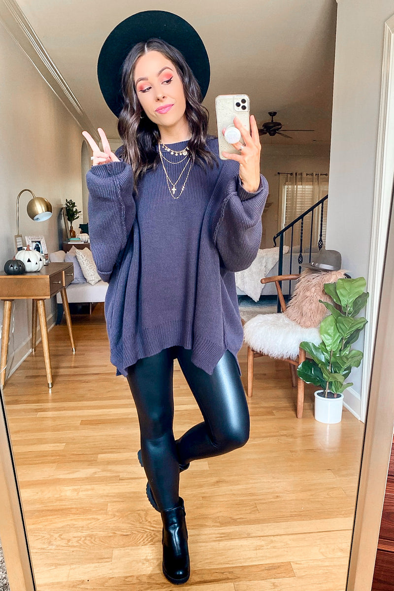 Slate Gray / S Style Supply Relaxed Fit Dolman Sweater - Madison and Mallory