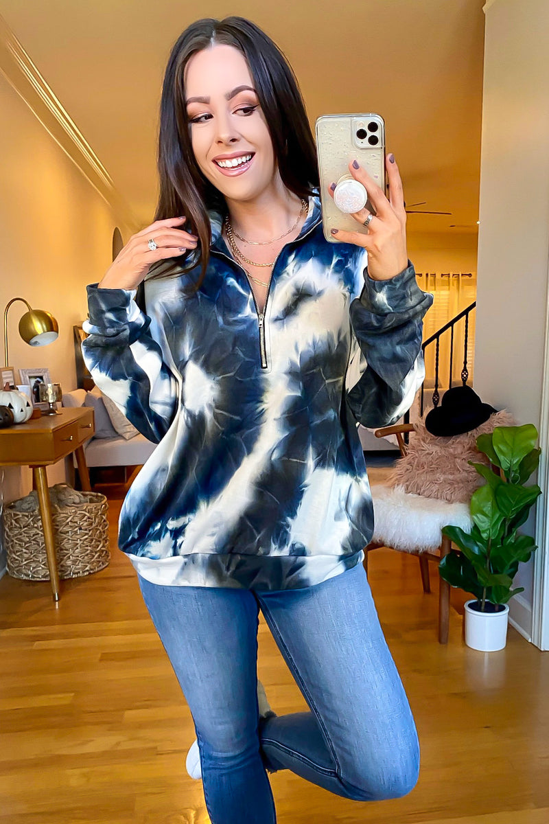 Black / S Ever Cool Marble 1/4 Zip Pullover - Madison and Mallory