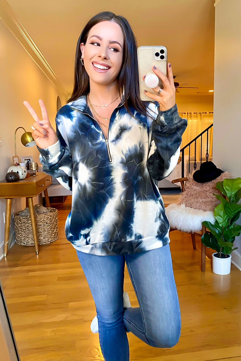 Ever Cool Marble 1/4 Zip Pullover - Madison and Mallory