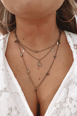 Gold Chase the Stars Layered Drop Necklace - Madison and Mallory