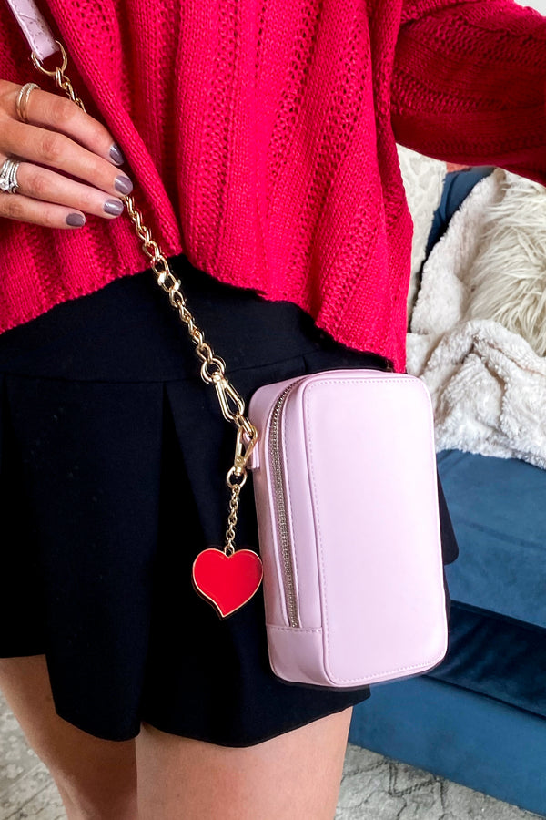 Blush Love for You Heart Detail Crossbody Bag - Madison and Mallory