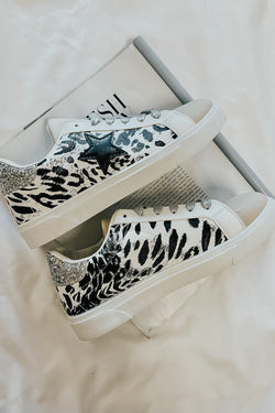 Animal / 5.5 Get On Your Level Star Accent Sneakers - Animal - Madison and Mallory