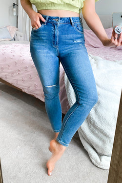 1 / Medium Madalyn Distressed Skinny Jeans - Madison and Mallory
