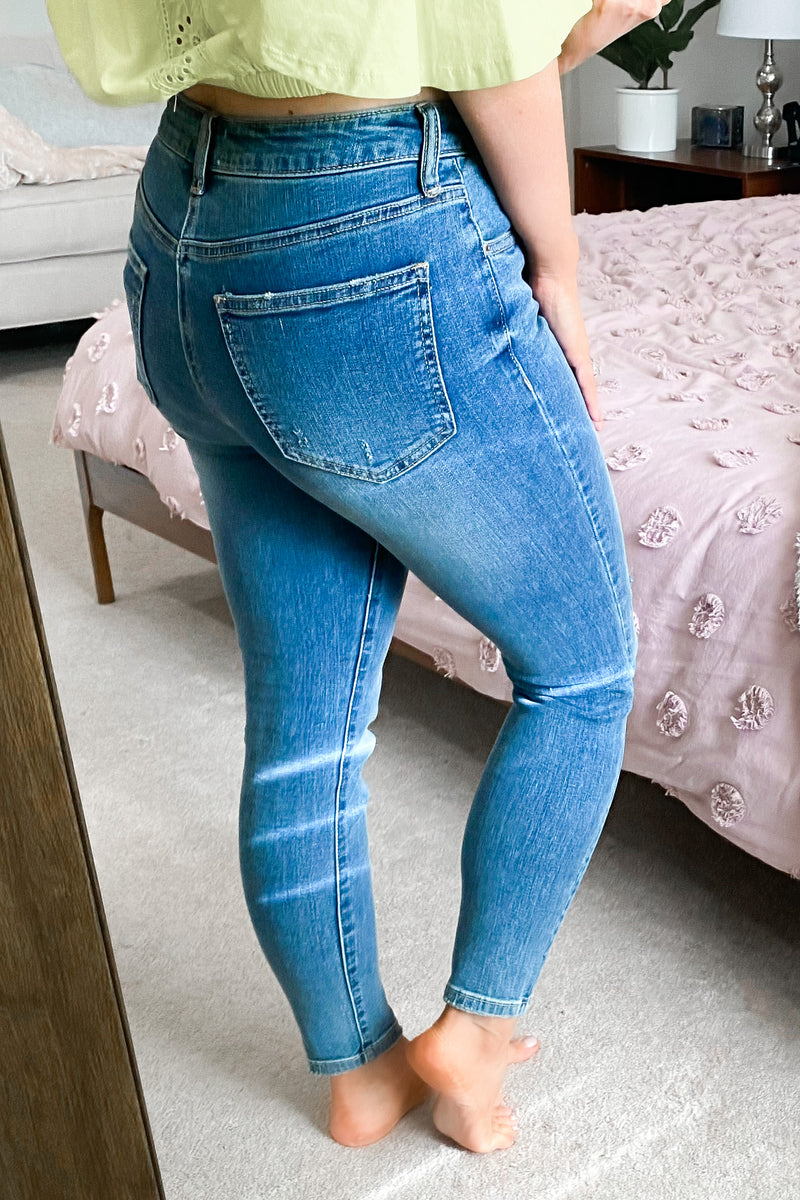 Madalyn Distressed Skinny Jeans - Madison and Mallory