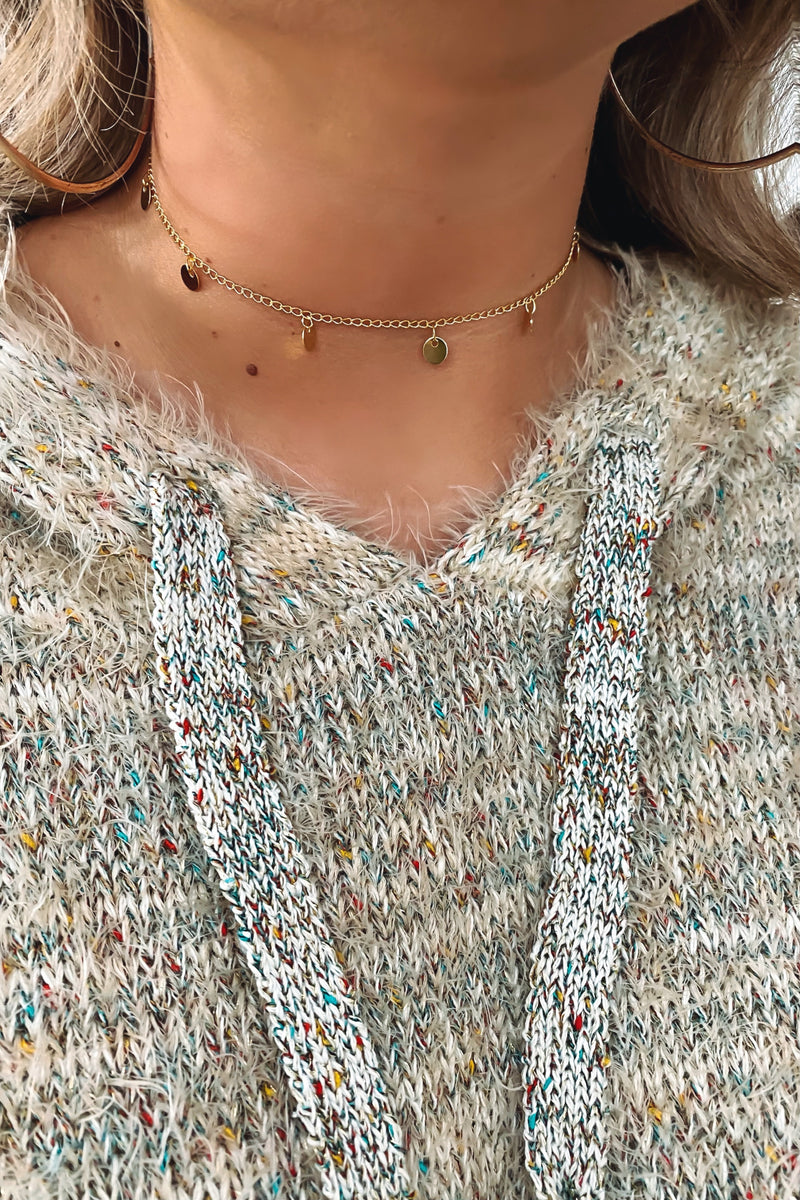 Gold Meant to Shine Disc Choker Necklace - Madison and Mallory