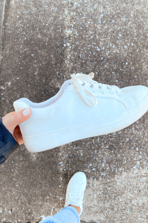 White / 5.5 Going Anywhere Platform Sneakers - White - Madison and Mallory