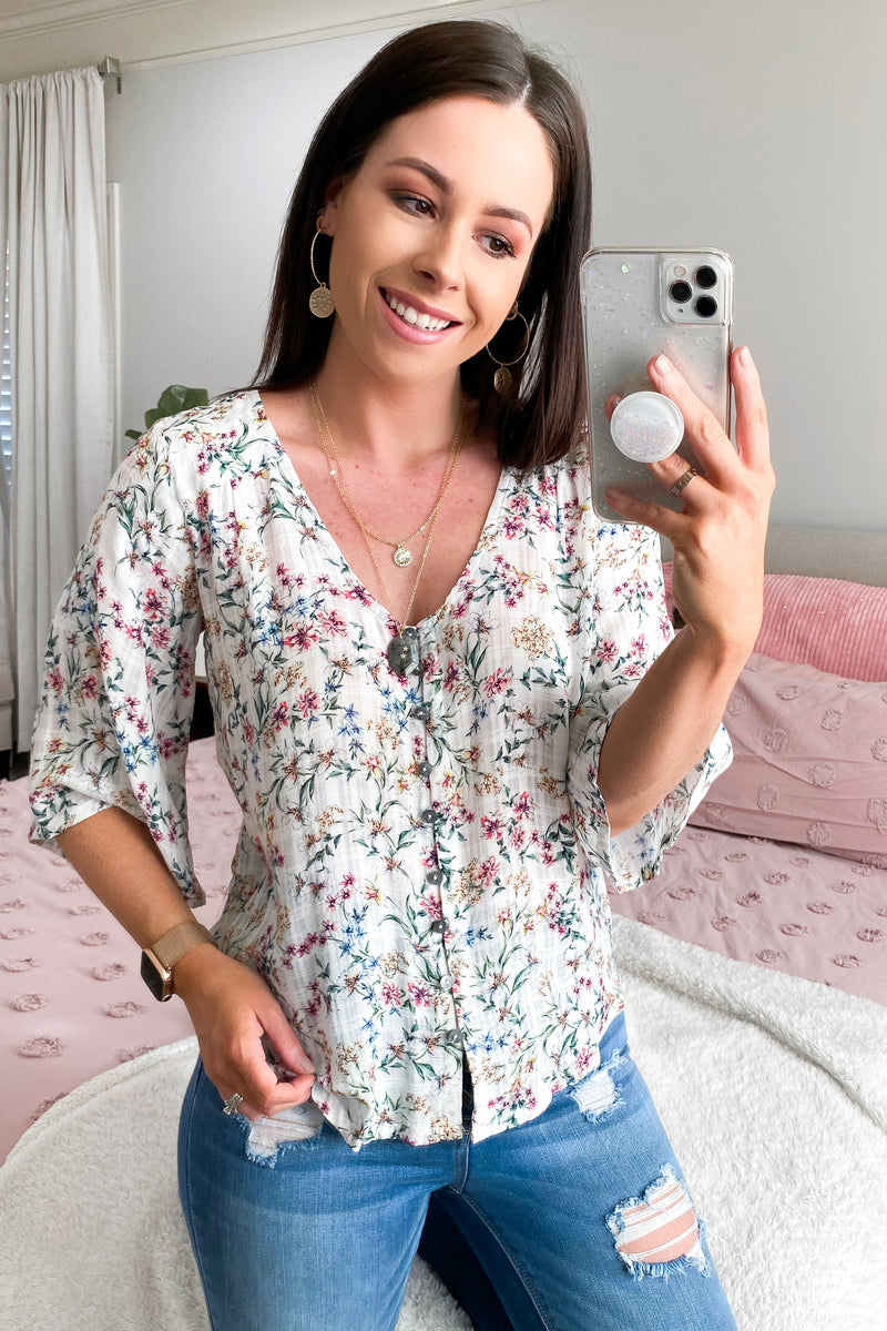 Arbella  Floral Print Top - Madison and Mallory