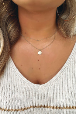 Gold Fair Play Coin Layered Necklace - Madison and Mallory