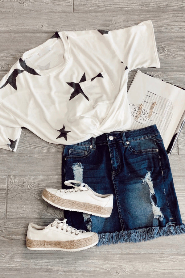 Wish I May Star Pocket Top - Madison and Mallory