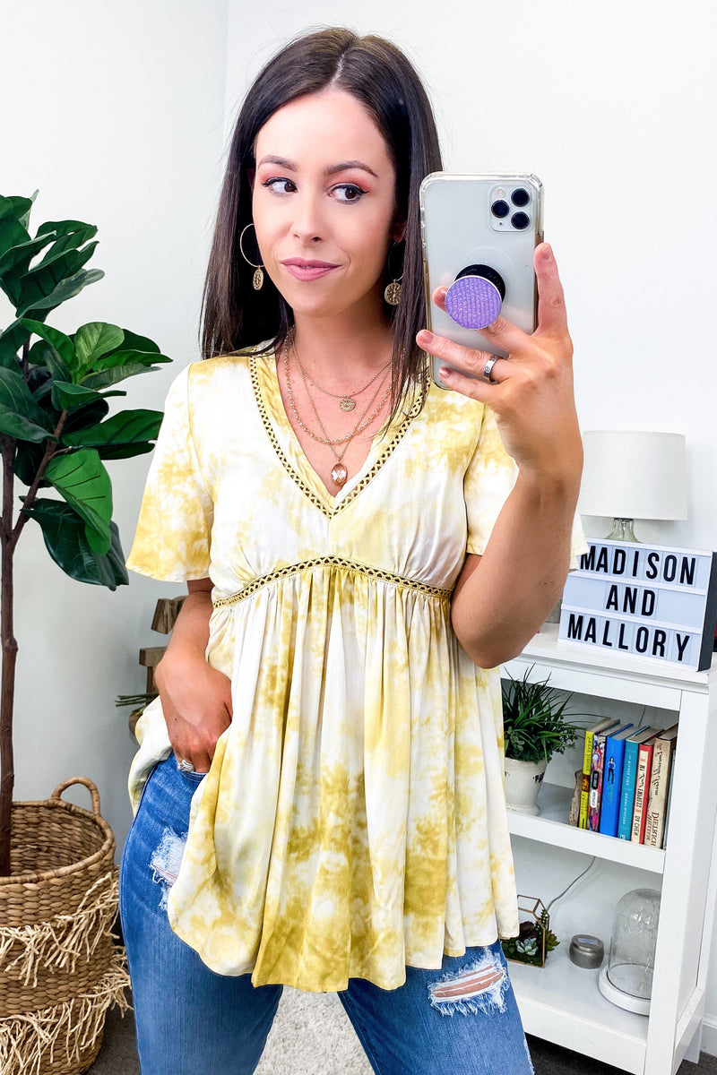 Sunny Honey Tie Dye Babydoll Top - Madison and Mallory