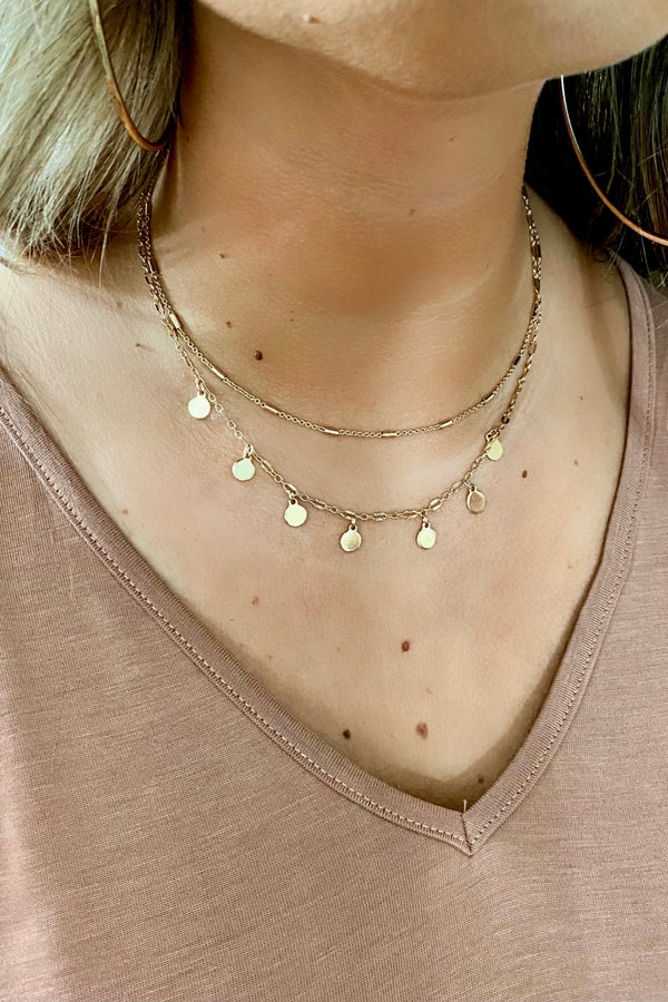 Spectacle to See Disc Layered Necklace - Madison and Mallory
