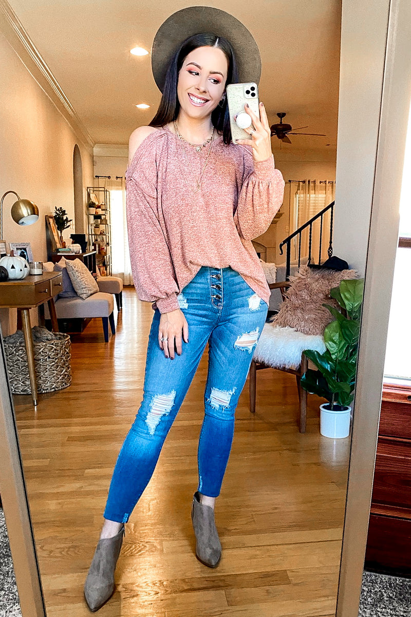 Pave the Way Cold Shoulder Top - Madison and Mallory