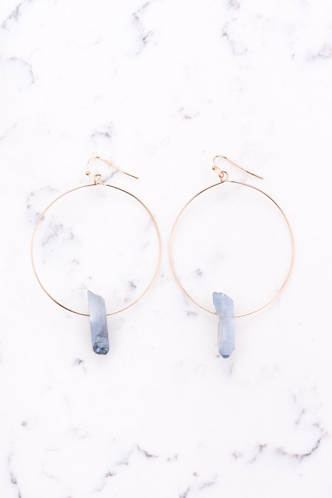 OS / Gold Farrah Earrings - Madison + Mallory
