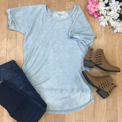 Thermal Scoopneck High Low Top - Madison + Mallory