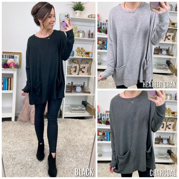 Georgina Soft Knit Tunic Top - Madison + Mallory