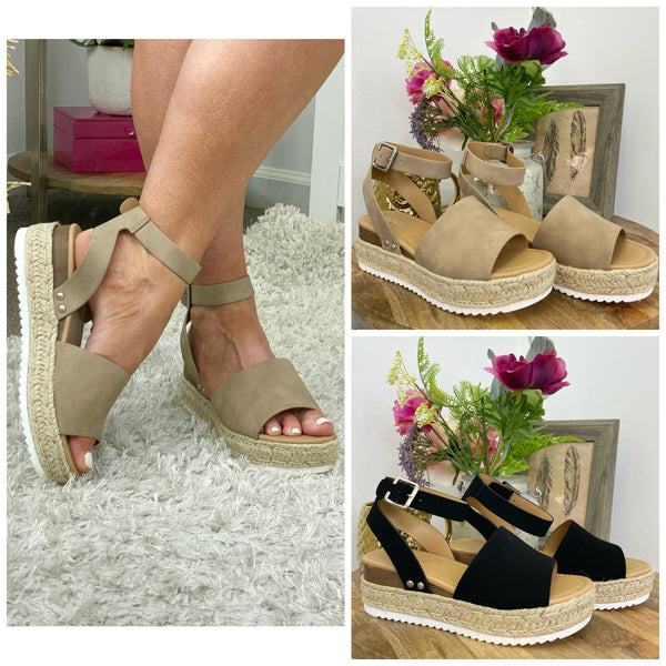 Give Me a Lift Platform Wedges - Madison and Mallory