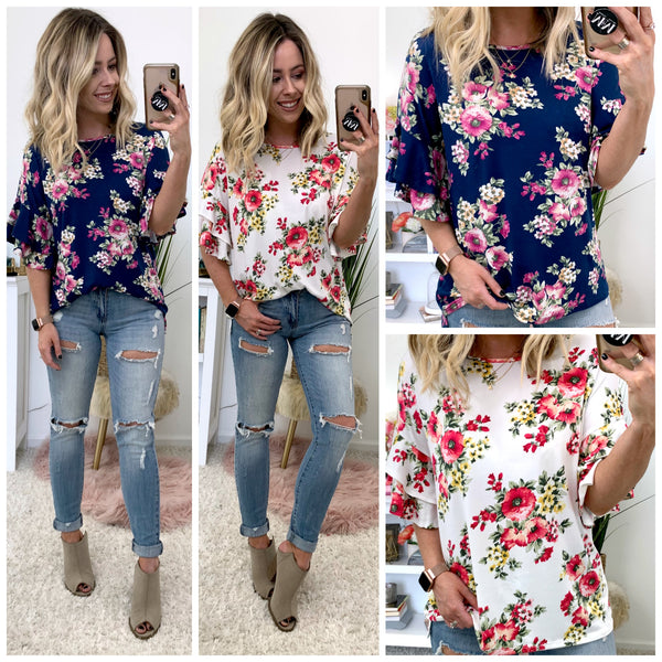Glynnis Floral Knit Top - Madison + Mallory