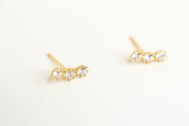 Dainty Crystal Link Earrings - Madison + Mallory