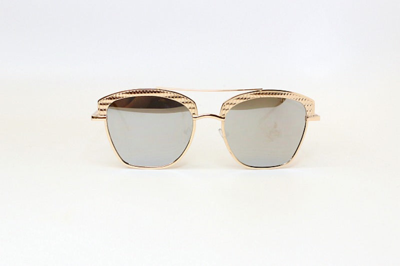 Silver Gold Uptown Girl Sunglasses - Madison + Mallory