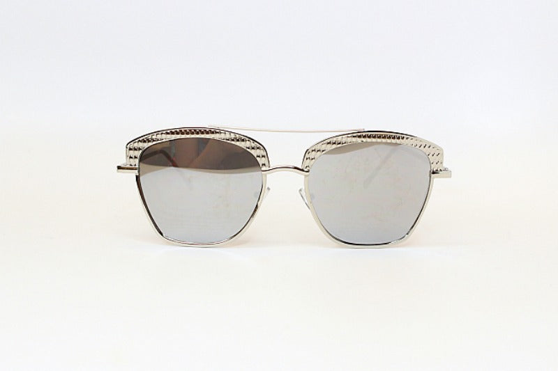 Silver Silver Uptown Girl Sunglasses - Madison + Mallory