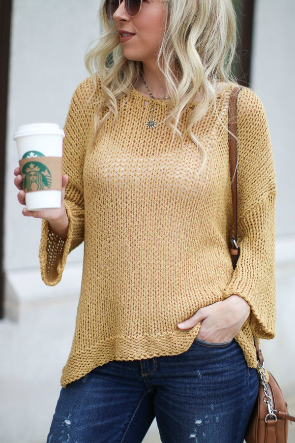 SM / Mustard Good Together Sweater - Madison + Mallory