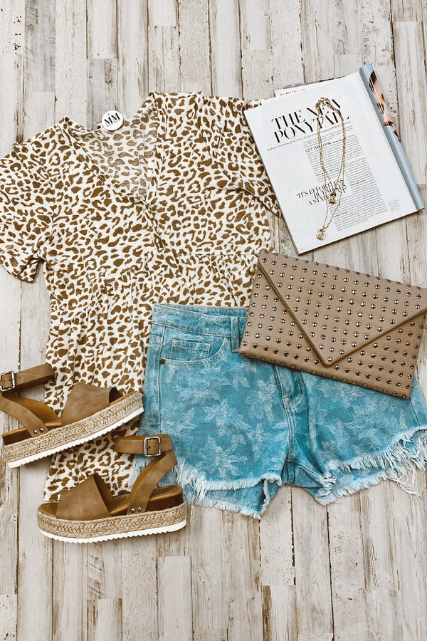 Whereabouts Leopard Button Top | CURVE - Madison and Mallory