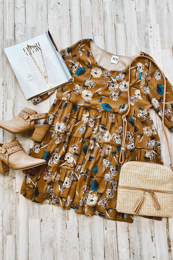 Look the Part Floral Tiered Dress - FINAL SALE - Madison and Mallory