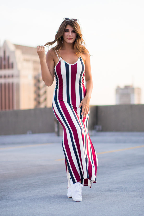 S / Multi Charlie Striped Dress - Madison + Mallory