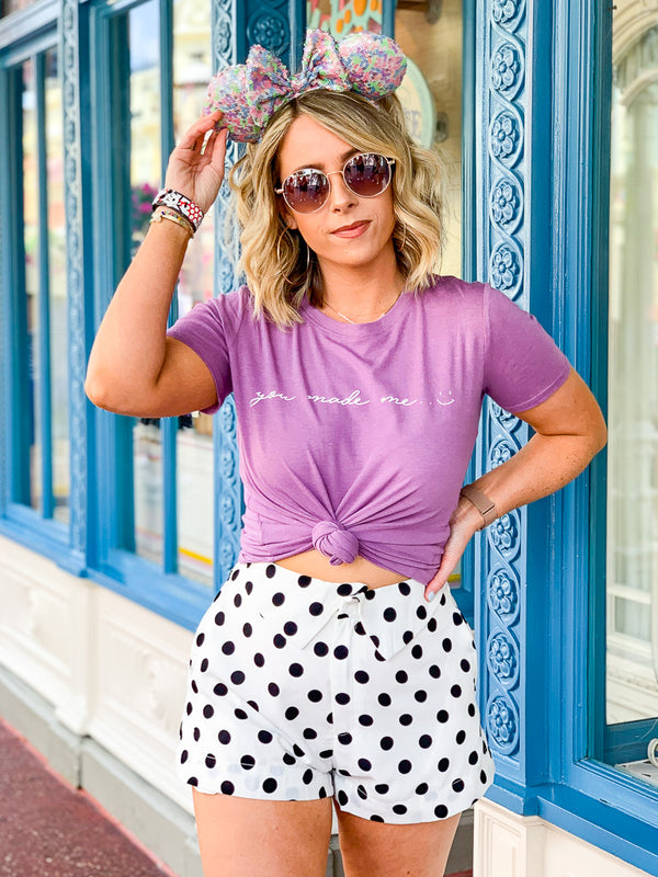 Party for One Polka Dot Shorts - Madison + Mallory