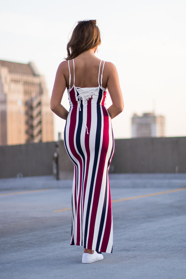 Charlie Striped Dress - Madison + Mallory