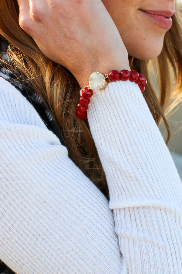 Druzy Stone Bracelet + MORE COLORS - Madison + Mallory