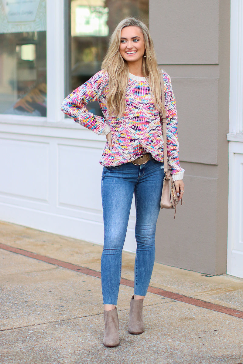 Truth Hurts Multi Color Knit Sweater - Madison + Mallory