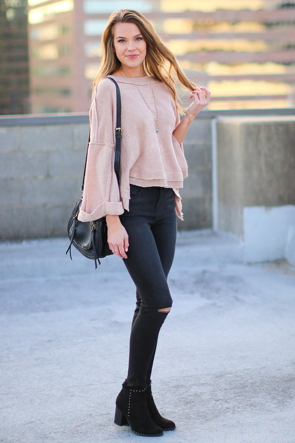 Lonnie Slouchy Knit Top - Madison + Mallory