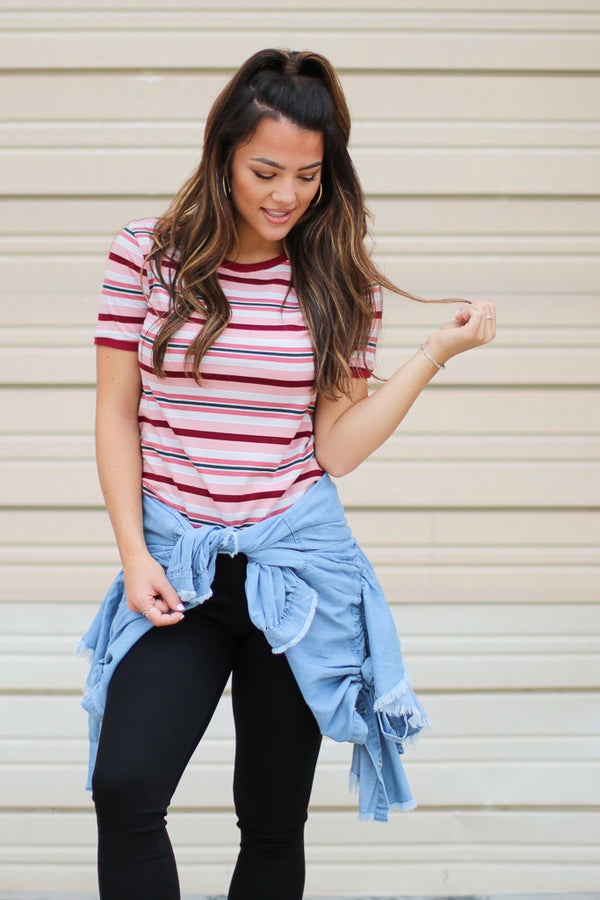 Weekend Vacation Striped Top - Madison + Mallory