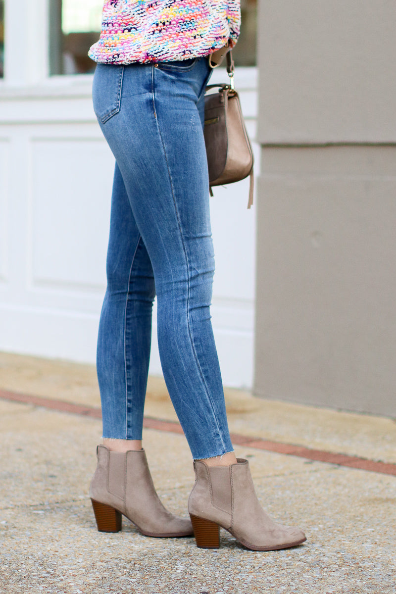 Thanks to You Frayed Hem Denim - Madison + Mallory
