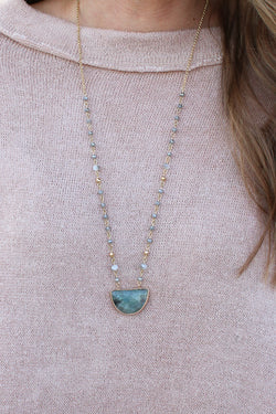 Gray Riptide Beaded Necklace + MORE COLORS - Madison + Mallory