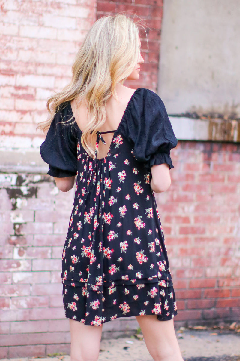 Praise Floral Embroidered Dress - Madison and Mallory