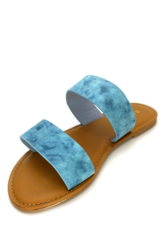 Double Band Slide Sandals - Madison + Mallory