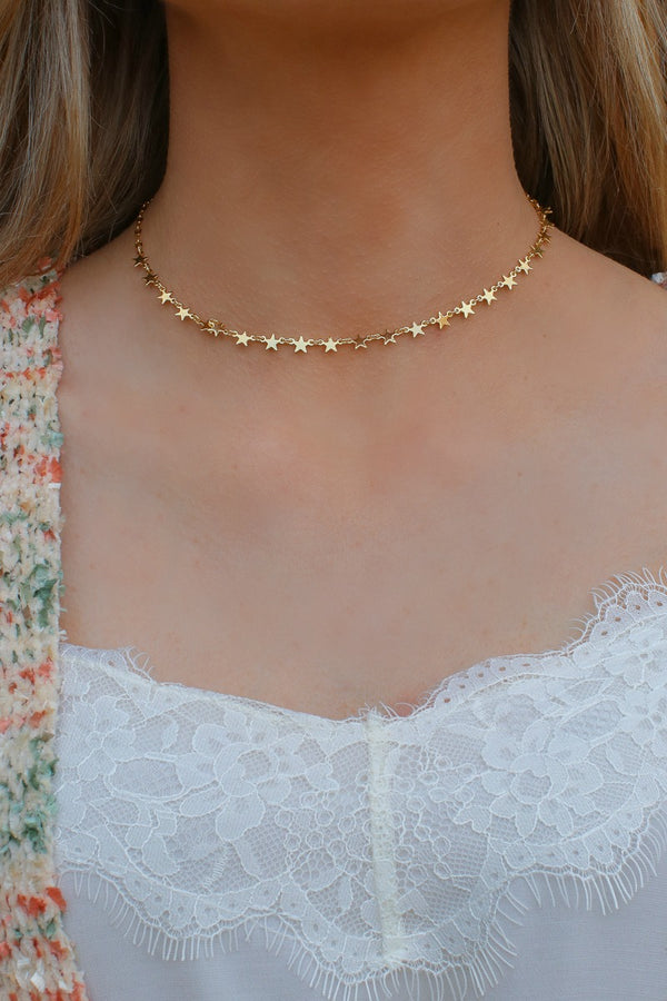 Gold Escape the Night Star Necklace - Madison + Mallory
