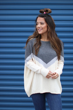 S Chevron Knit Sweater - Madison + Mallory
