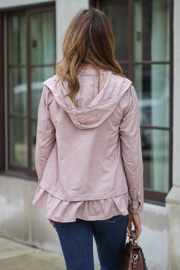 Kyrie Ruffled Windbreaker Jacket - Madison + Mallory